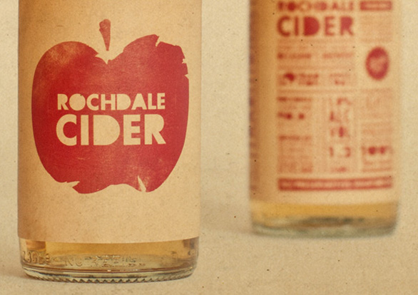Food Label Design - Rochdale Cider