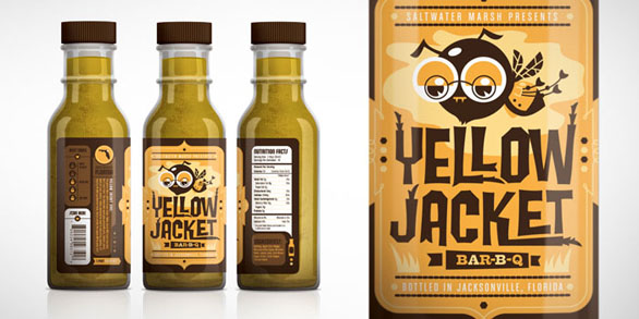 Food Label Design - Yellow Jacket