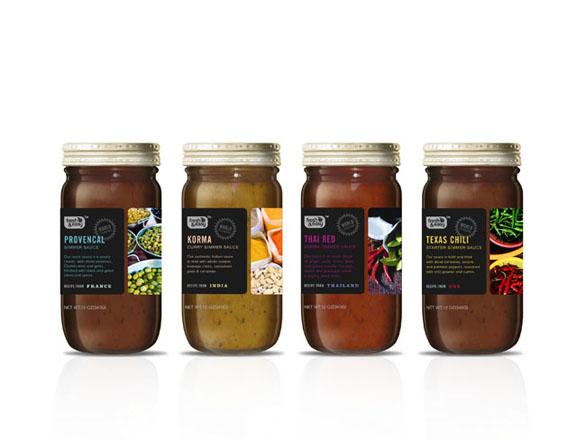 Food Label Design - Simmer Sauce