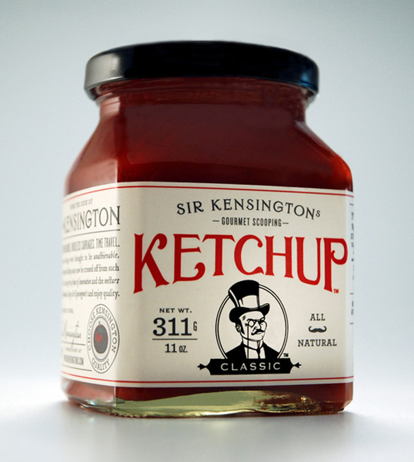 Food Label Design - Gourmet Scooping Ketchup