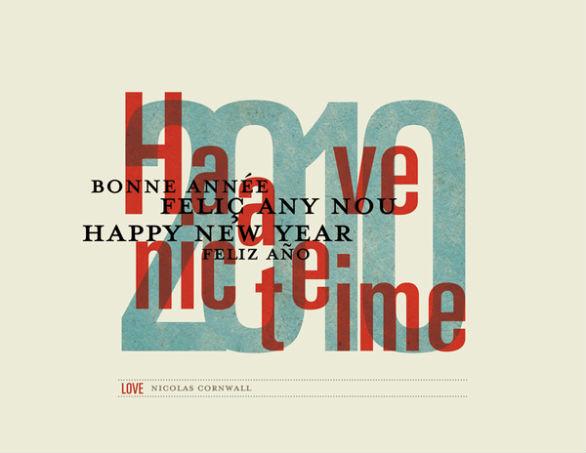 Holiday Card Ideas - New Year Postal Card