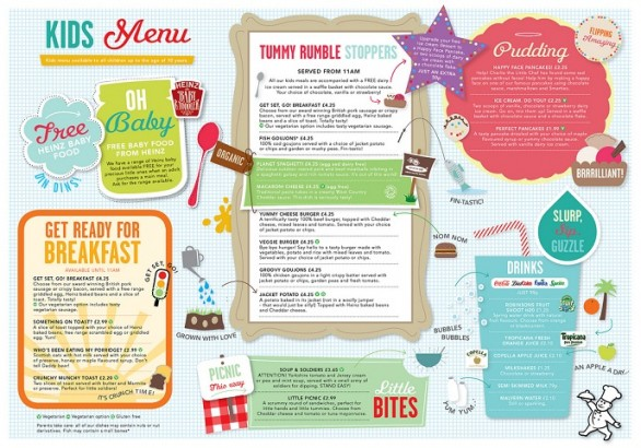restaurant menu ideas - little chef (spread)