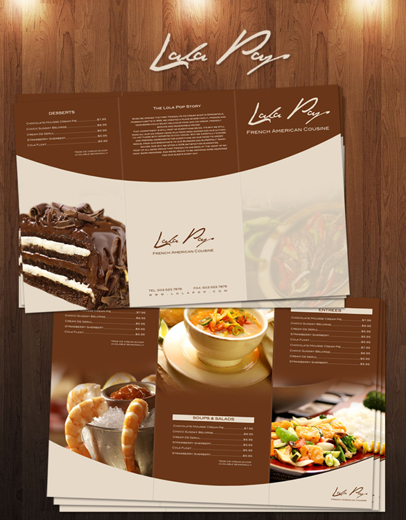 Awesome Picture of Sample Restaurant Menu Design - Perfect Homes ...