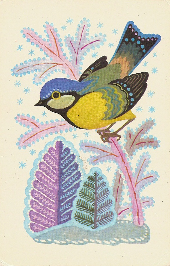 Vintage Christmas Postcards - USSR 1985