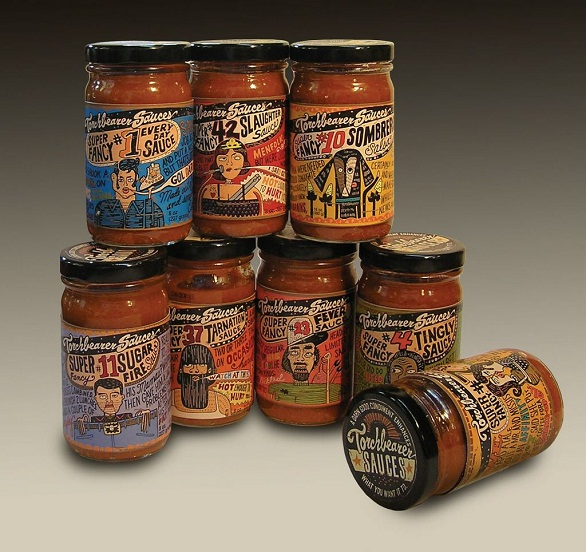 hot sauce labels - torchbearer sauces