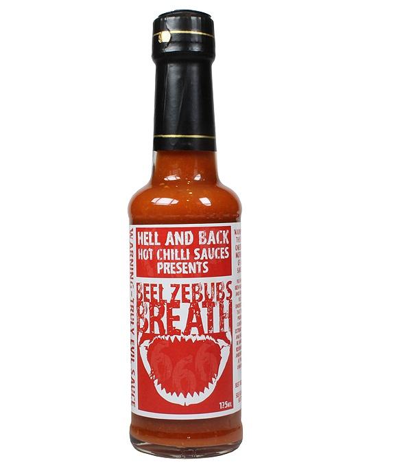 hot sauce labels - beelzebub's breath