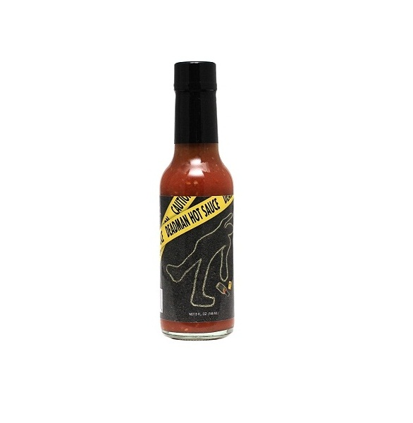 hot sauce labels - dead man hot sauce