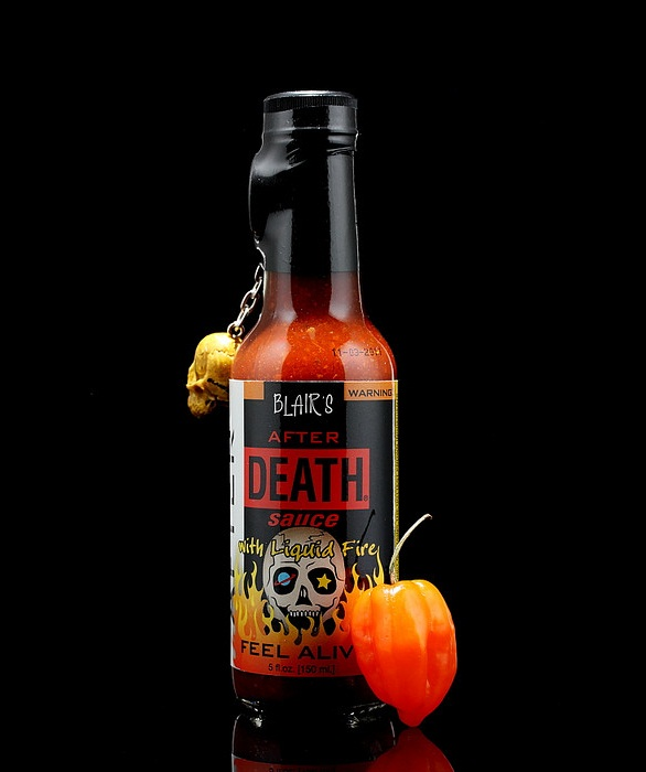 hot sauce labels - blair's after death sauce