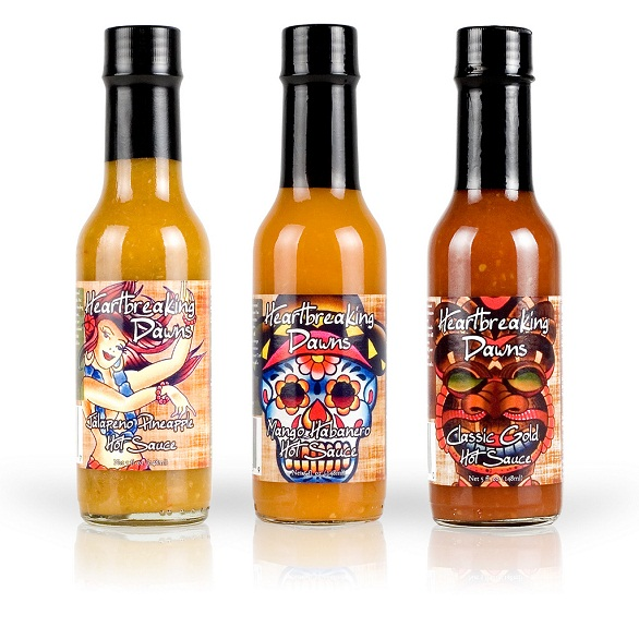 hot sauce labels - heartbreaking dawn's set