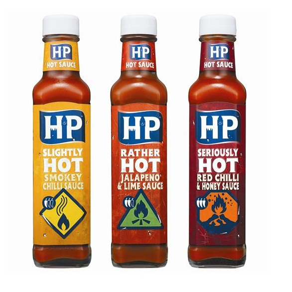 hot sauce labels - hp
