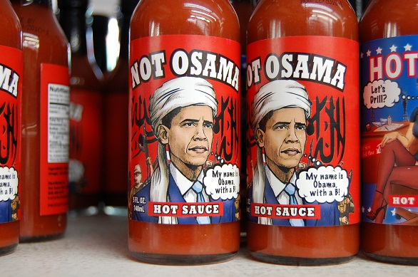 hot sauce labels - not osama