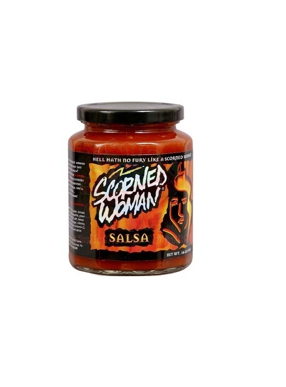 hot sauce labels - scorned woman salsa