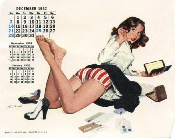 Pin-Up Girl Calendar - 1952 Esquire Pin-up