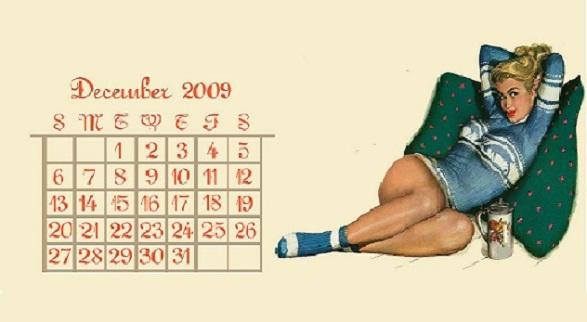 Pin-Up Girl Calendar - December by York Sensation