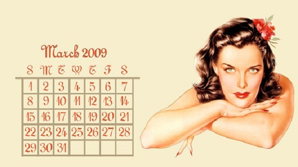 Pin-Up Girl Calendar - March by Yorksensation
