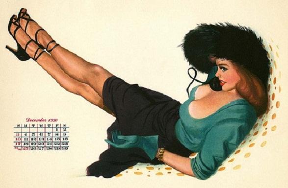 Pin-Up Girl Calendar - 1950 Calendar Suzee Q