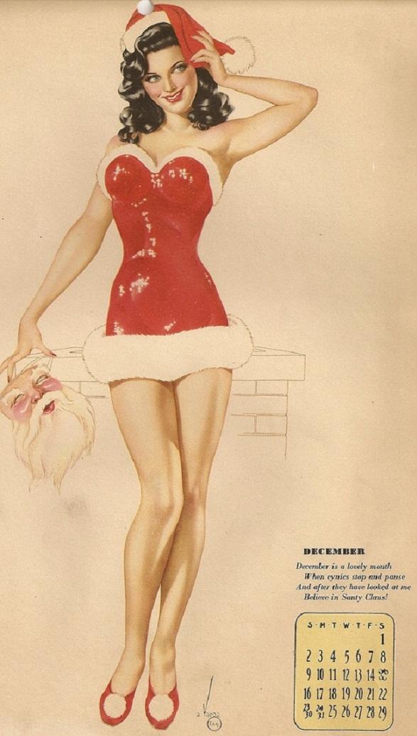 Pin-Up Girl Calendar - December - Zawesome
