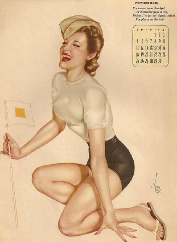Pin-Up Girl Calendar - November - Zawesome