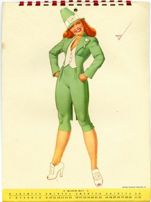Pin-Up Girl Calendar - Petty Irish Lass