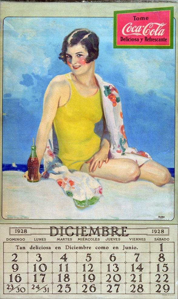 Pin-Up Girl Calendar - Mexican Coca Cola Calendar