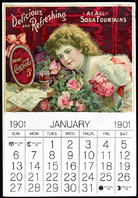 Pin-Up Girl Calendar - Coca Cola 1901
