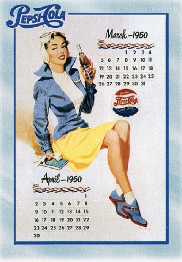 Pin-Up Girl Calendar - Pepsi Girl
