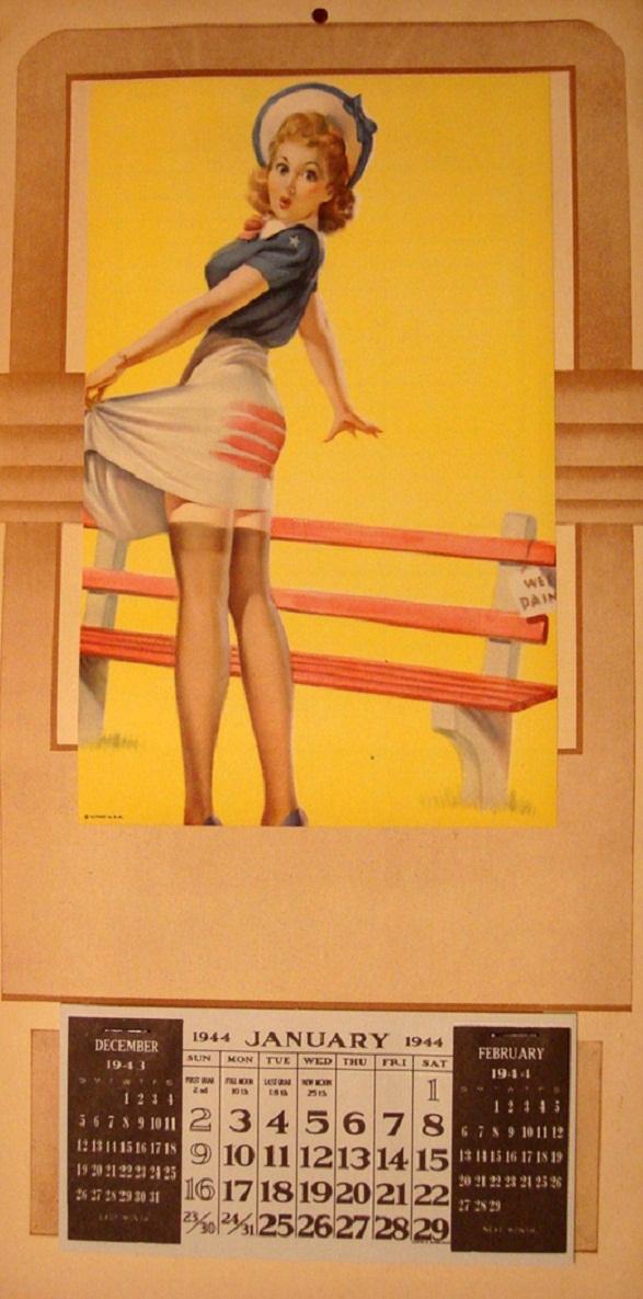 Pin-Up Girl Calendar - 1944 Vintage