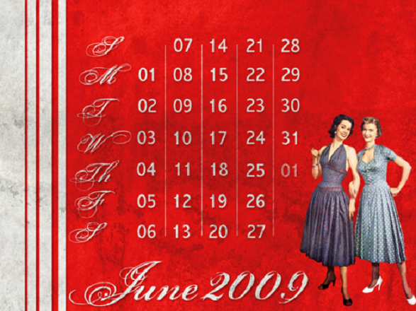 Pin-Up Girl Calendar - 2009 Vintage Calendar by Jeepika