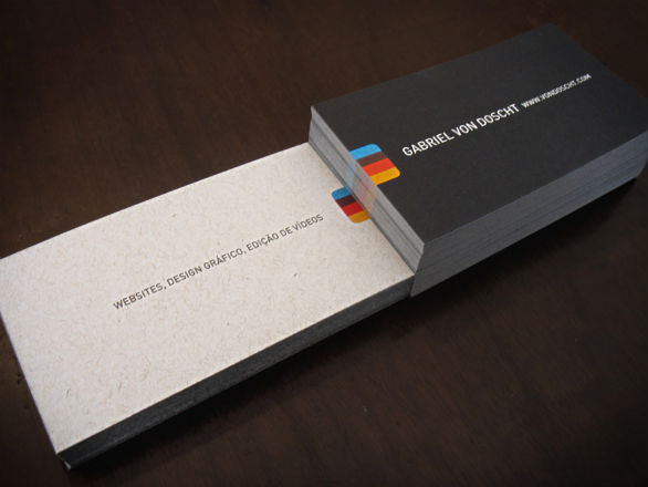 30 cool business card designs of graphic and web designers uprinting cool business card designs gabriel von doscht reheart Gallery