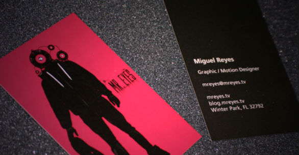 Cool Business Card Designs - Miguel Reyes