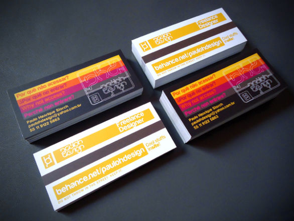 Cool Business Card Designs - Paulo Henrique Storch