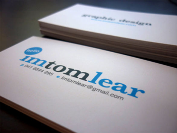 Cool Business Card Designs - Tom Lear