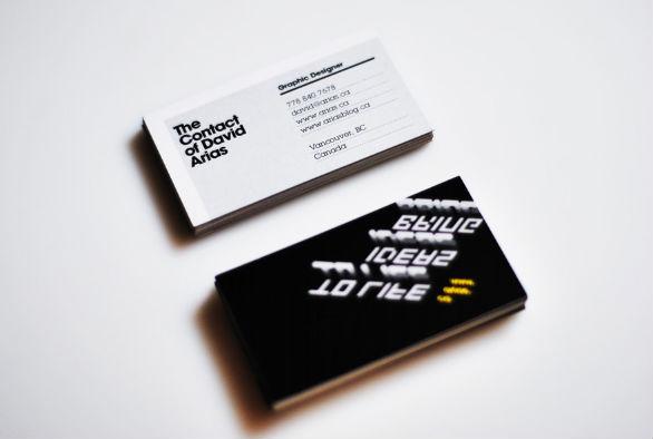 Cool Business Card Designs - David Arias