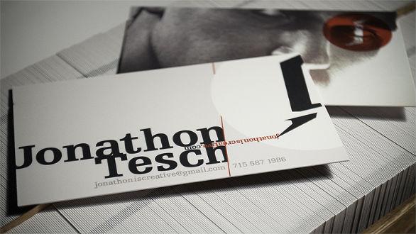 Cool Business Card Designs - Joanthon Tesch