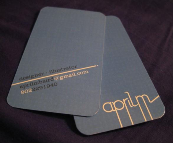 Cool Business Card Designs - April Baird