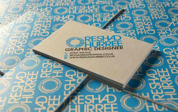 Cool Business Card Designs - Reshad Huree