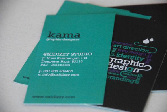 Cool Business Card Designs - Kama Dwipayana