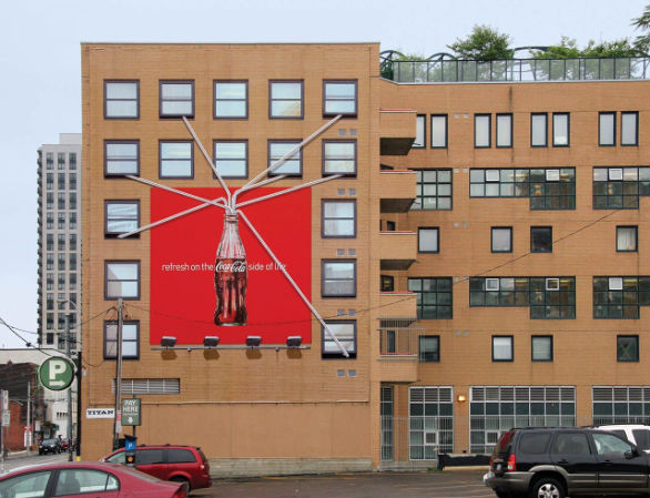 Creative Outdoor Advertising - CocaCola Straw