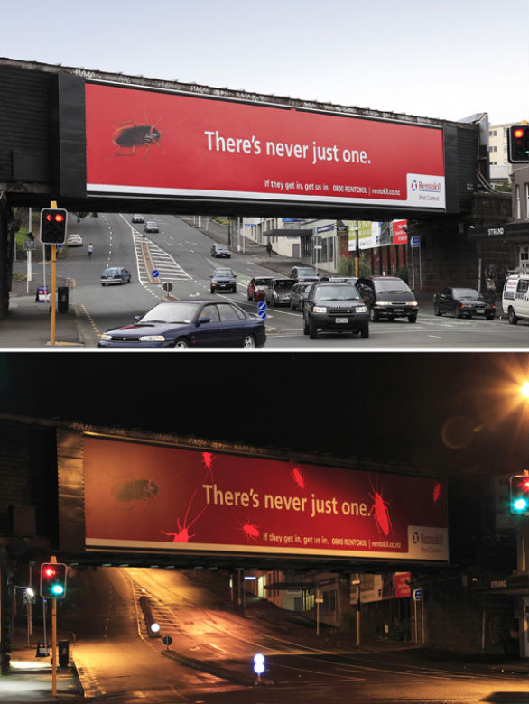 Creative Outdoor Advertising - Rentokil