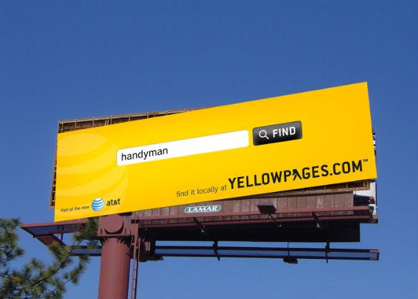 Creative Outdoor Advertising - Yellow Pages