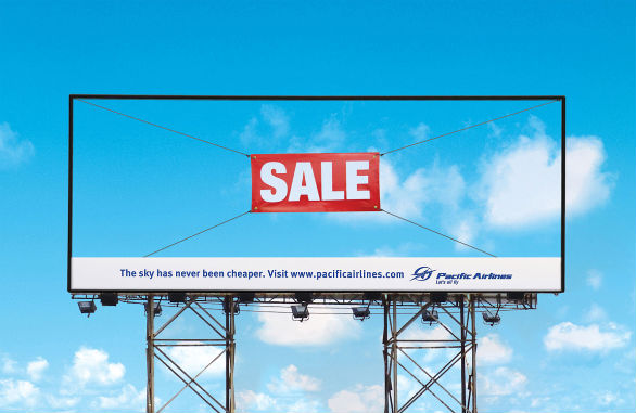 Creative Outdoor Advertising - Pacific Airlines