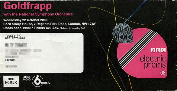 Custom Ticket Invitations - BBC Proms 2