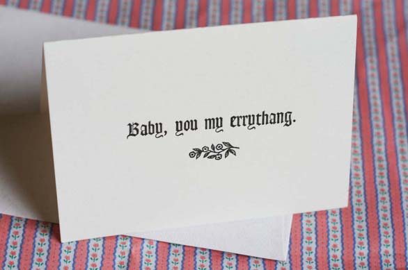 Greeting Card Images - Ebonics