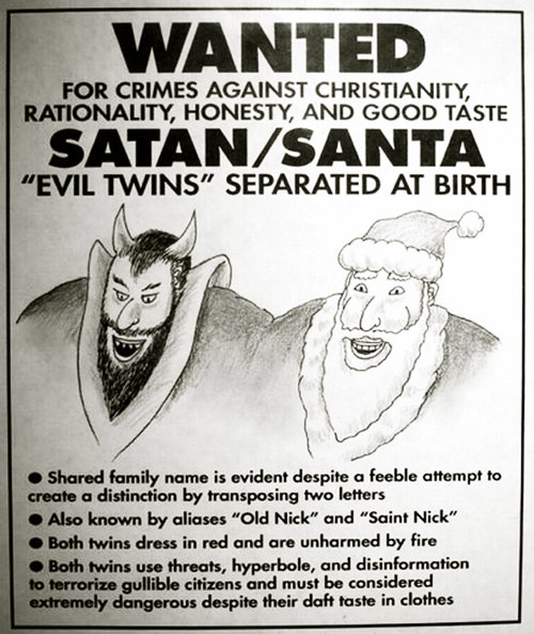 Greeting Card Images - Satan Claus