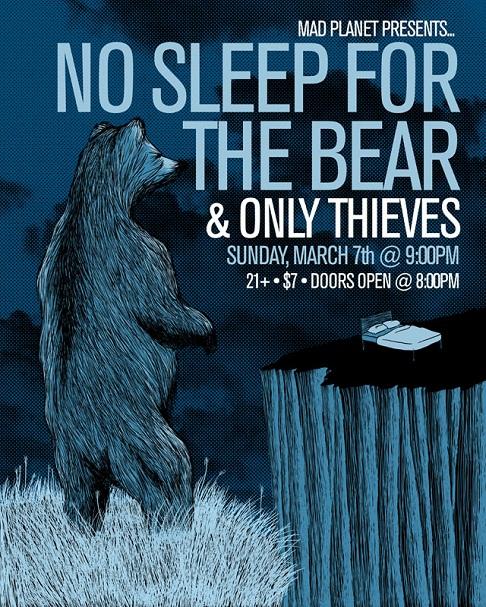 flyer design ideas -no sleep for the bear