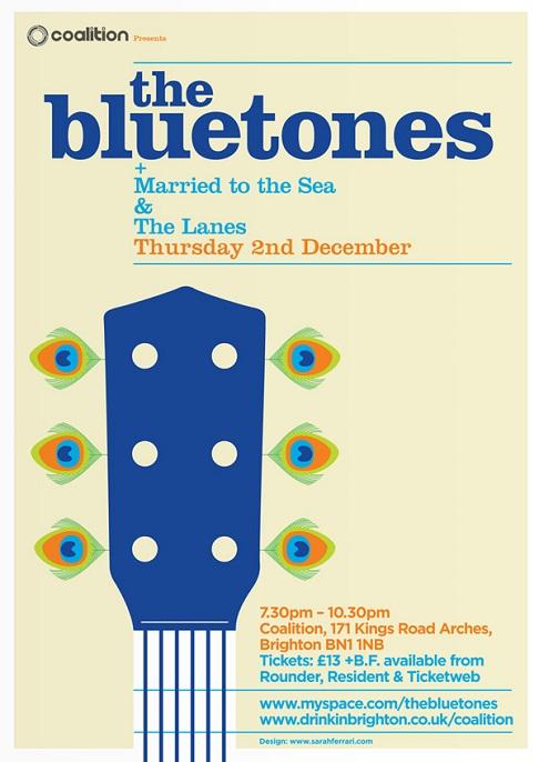 flyer design ideas - bluetones