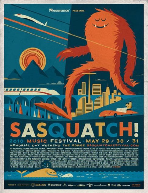 flyer design ideas - sasquatch