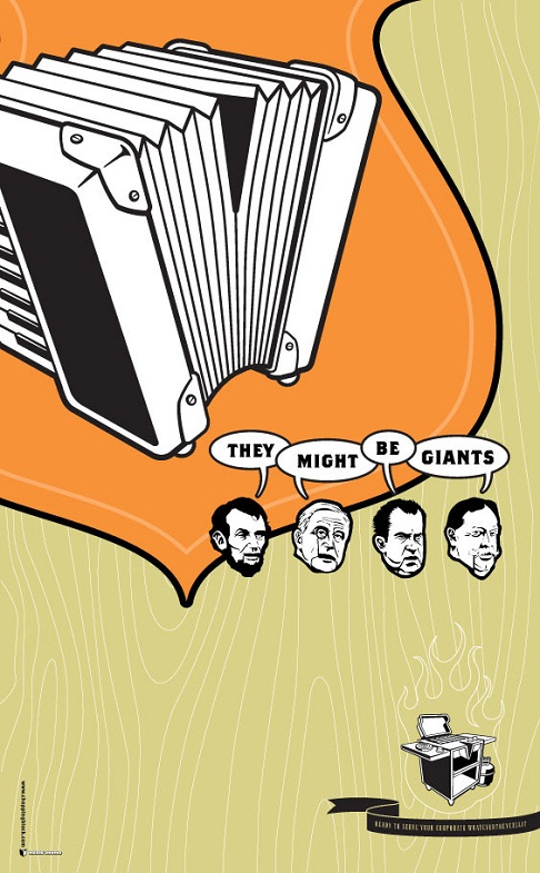 flyer design ideas - they might be giants