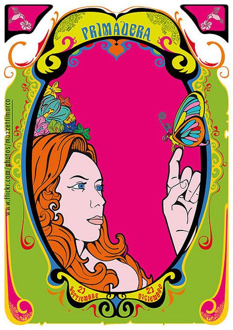 Art Nouveau Poster - primavera