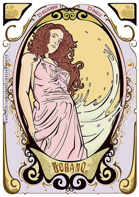 Art Nouveau Poster - verano